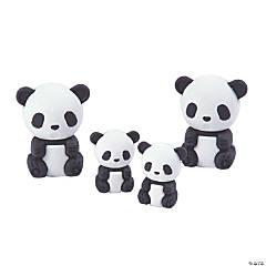 Panda Family Erasers