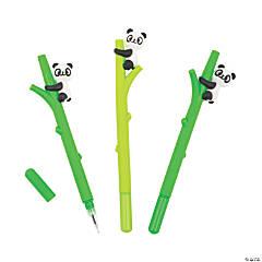 Panda on Bamboo Pens