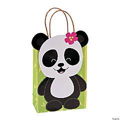 Panda Party Kraft Paper Gift Bags