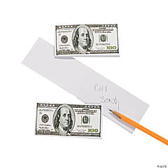 Paper $100 Bill Notepads