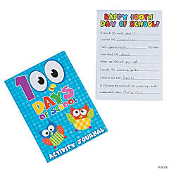 Paper 100th Day of School Activity Journals