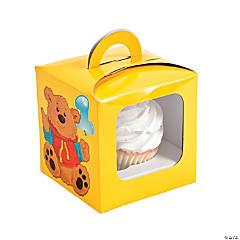Paper 1st Bear Cupcake Boxes