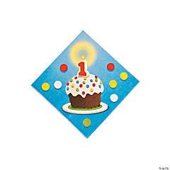 Paper 1st Birthday Bear Beverage Napkins