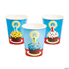 Paper 1st Birthday Bear Cups