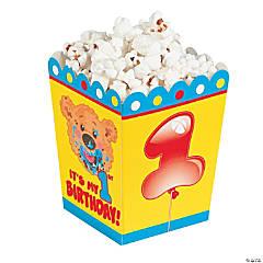Paper 1st Birthday Bear Popcorn Boxes