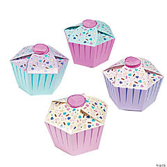 Paper 1st Birthday Cupcake Favor Boxes