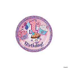 Paper 1st Birthday Cupcake Sprinkles Dessert Plates - 8 ct.