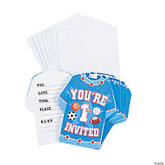 Paper All Star 1st Birthday Invitations