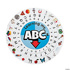 Paper Alphabet Learning Wheels