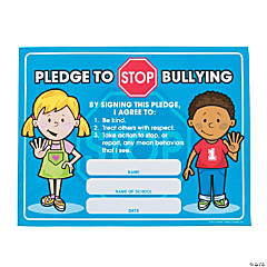 Paper Anti-Bully Pledge Certificates