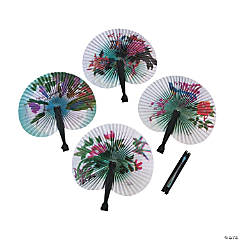 Paper Asian Folding Fan Assortment