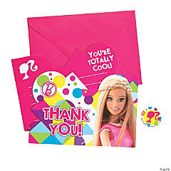 Paper Barbie™ Sparkle Thank You Cards