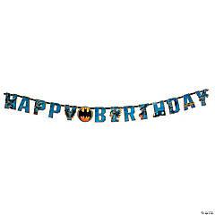 Paper Batman Add-An-Age Birthday Banner