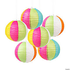 Paper Beach Ball Lanterns