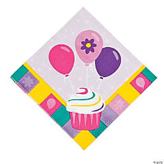 Paper Birthday Girl Luncheon Napkins