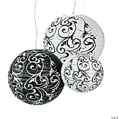 Paper Black & White Lanterns