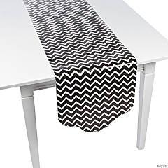 Paper Black Chevron & Polka Dot Table Runner
