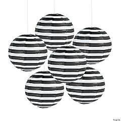 Paper Black Striped Lanterns