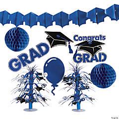 Paper Blue Graduation Decorating Kit