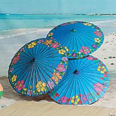 Paper Blue Hibiscus Parasols