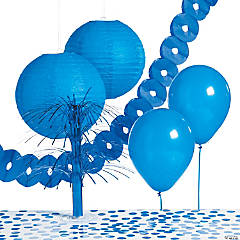 Paper Blue Party Decorating Kit