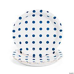 Paper Blue Polka Dot Dessert Plates - 8 Ct.
