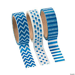 Paper Blue Washi Tape Set