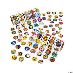 Paper Bulk Religious Rolls of Stickers Assortment