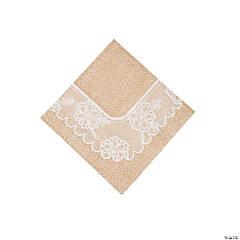 Paper Burlap & Lace Beverage Napkins
