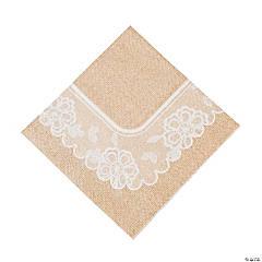 Paper Burlap & Lace Luncheon Napkins