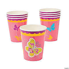 Paper Butterfly Cups