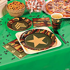 Paper Camouflage Dessert Plates