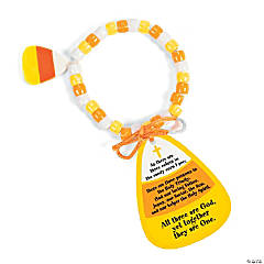 Paper Candy Corn Bracelet Craft Kit with Card