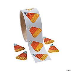 Paper Candy Corn Prism Stickers