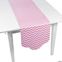 Paper Candy Pink Chevron & Polka Dot Table Runner