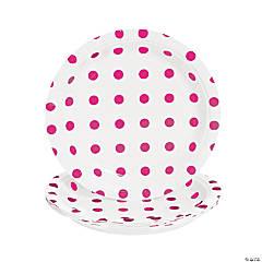 Paper Candy Pink Polka Dot Dessert Plates