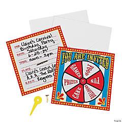 Paper Carnival Spinner Invitations