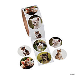 Paper Cat Photo Roll of Stickers