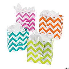 Paper Chevron Gift Bag Assortment