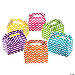 Paper Chevron Treat Boxes