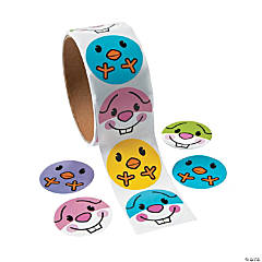 Paper Chick & Bunny Face Stickers