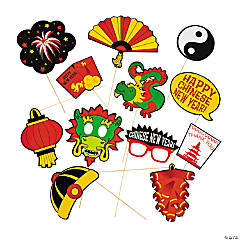 Paper Chinese New Year Photo Stick Props