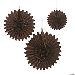 Paper Chocolate Brown Tissue Hanging Fans
