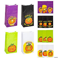 Paper Christian Pumpkin Treat Bags