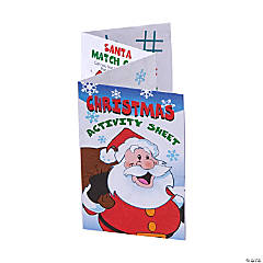 Paper Christmas Fold-Up Activity Books
