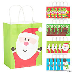 Paper Christmas Gift Bag Assortment