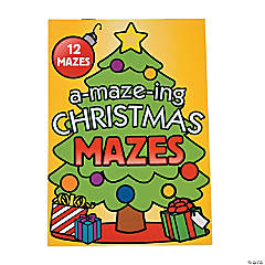 Paper Christmas Mazes Activity Books