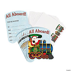 Paper Christmas Train Invitations