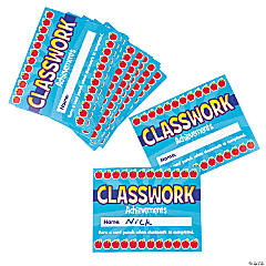 Paper Classwork Punch Cards