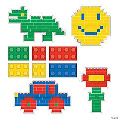 Paper Color Brick Party Cutouts